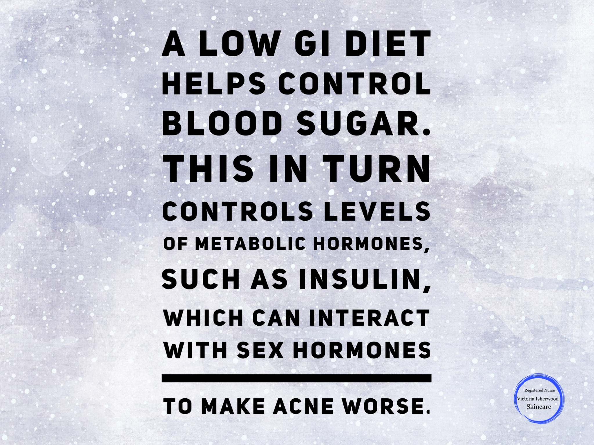 High GI food and acne