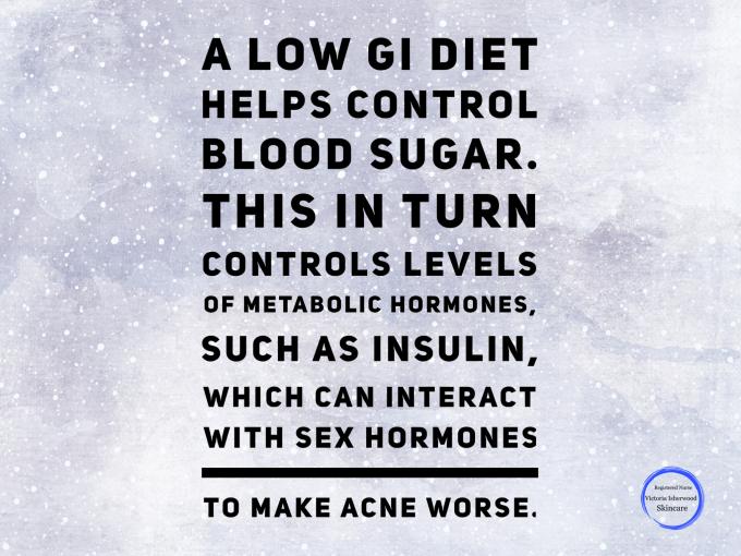 High GI food and acne